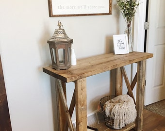 Entryway Table / Console Table / Farmhouse Decor