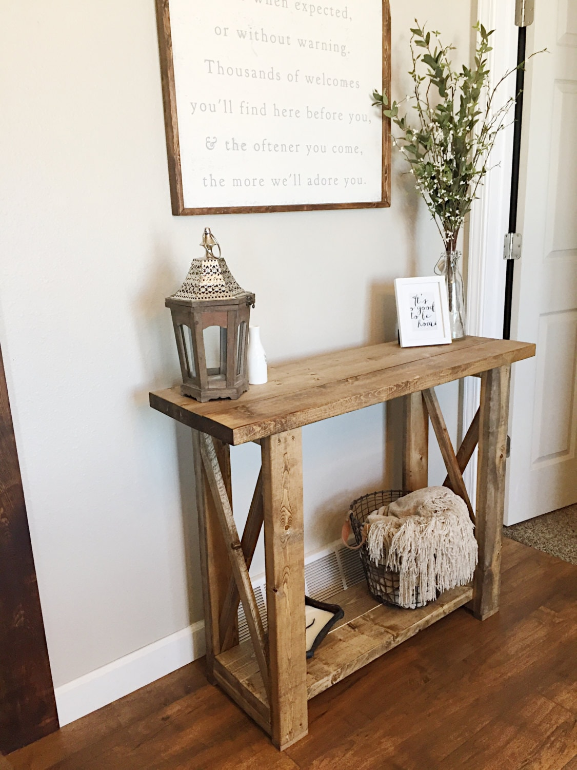 Foyer Table Farmhouse : Entryway table console farmhouse decor