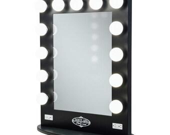 lighted vanity mirror etsy. Black Bedroom Furniture Sets. Home Design Ideas