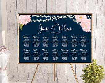 Find your Seat Chart, Printable Wedding Seating Chart, Wedding Seating Poster, Wedding Sign, Wedding Seating Board TG65 dd TH65 WC163