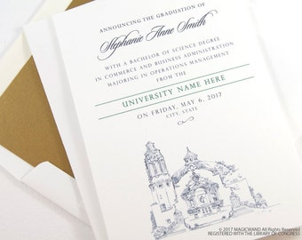 Indiana University Graduation Announcements, Grad Party Invitation, Grads, College (set of 25 cards and envelopes)