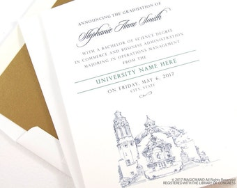 Longwood University Graduation Announcements, Grad Party Invitation, Grads, College (set of 25 cards and white envelopes)