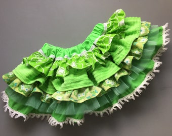 Cheerful colorful 100% fair trade handmade strips skirt