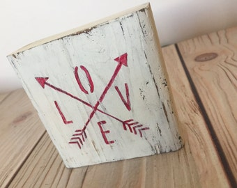 Love Sign - Wood Signs - Rustic Signs - Love Decor - Follow Your Arrow - Arrow Sign - Rustic Wedding Decor - Rustic Home Decor - Wood Sign