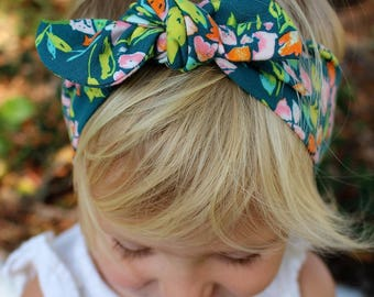 bougainvillea top knot headband