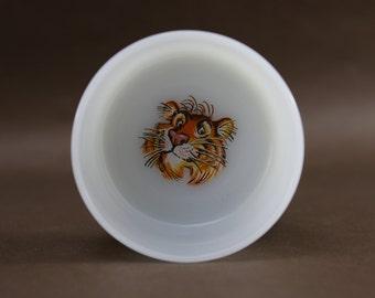 Vintage 1950's Esso Tiger Milk Glass Cereal Bowl