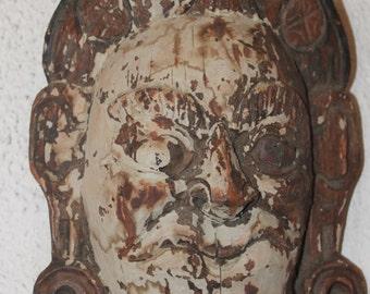 Vintage Thailand Carved Wood Mask