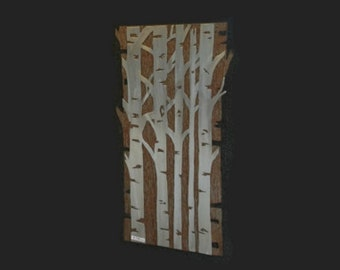 ASPEN TREE FOREST,  Metal wall art, Hand Made, Hand Cut artwork