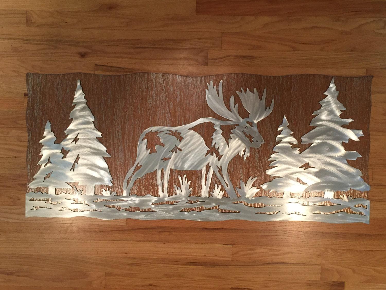 Metal Tree Wall Art Gallery: Rustic Cabin Decor