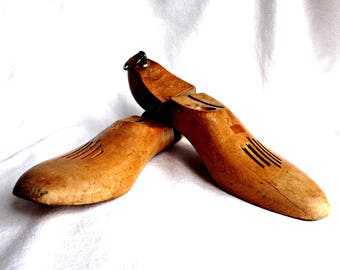 Vintage Wood Shoe Forms, Shoe Form Mold, Vintage Shoe Stretcher, Vintage Decor, Cobblers Shoe Form, Shoe Tree