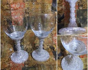 Wine Glass / Unique Wine Glass / Bling Glass / Bling Glass Wine / XL Wine Glass/ 20oz Wine Glass / Not For Amateur Wine Drinkers!!!