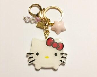 Hello Kitty Resin Keychain