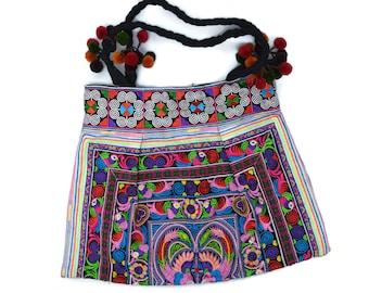 Embroidered Print Boho Handbag Tote