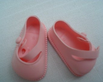03 Pink Plastic Doll Shoe