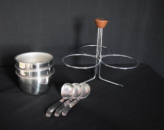 Vintage Foley Stainless Steel Relish Store & Save, Condiment Server - Party ware