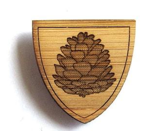 Rustic Pinecone Pin. Pinecone Pin. Wood Tie Pin. Wood Lapel Pin. Tie Pin. Lapel Pin. Mens Lapel Pin. Boutonniere. Dad Gifts. Groomsmen Gift.