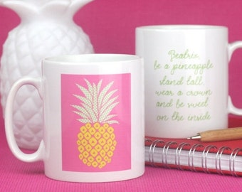 Be a pineapple personalised mug - perfect gift for friends for birthday or Christmas! This funny inspirational mug is sure to make her smile