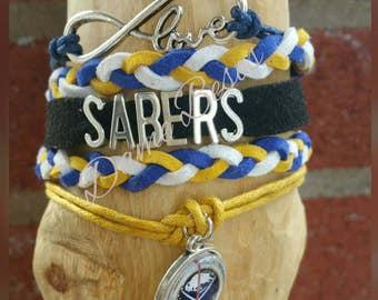 Twisted infinity Buffalo Sabers bracelet your choice of image