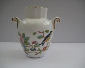 Pembroke design bone china vase by Aynsley, made in England