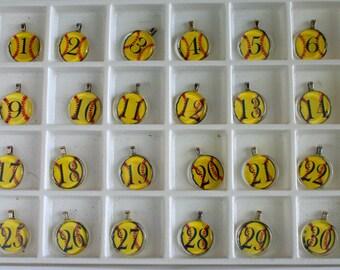 Softball Glass Tile Necklace