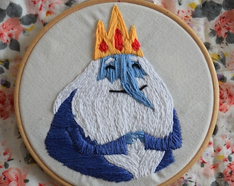 Ice King Adventure Time Stitched Art