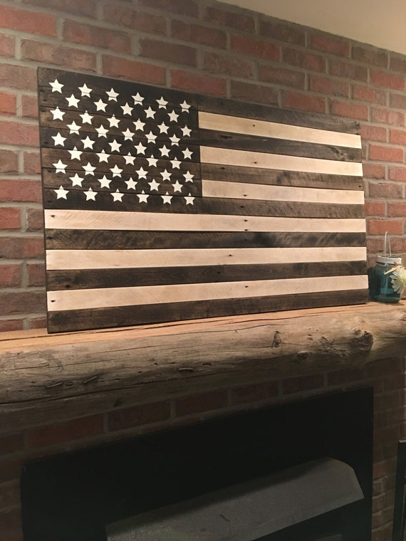 american flag wall hanging 44l x 26h patriotic. Black Bedroom Furniture Sets. Home Design Ideas