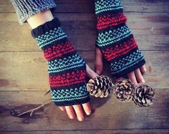 Mittens | Fingerless gloves | Girl gift | Long Arm Warmers | Gloves | Handmade | Wrist warmers