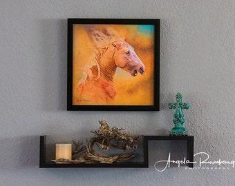 Horse art, wild horse, equine art, home decor, wild horse canvas, horses