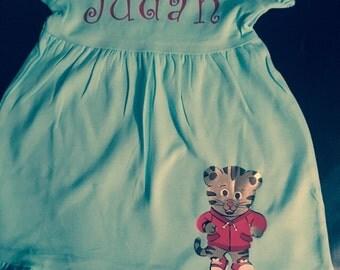 Personalized Empire Waist Ruffle Dress, Character Dresses, Birthday Dress, Personalized Dress, Toddler Dress, Girls Dress