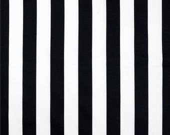 Black and white canopy stripe, Tufted chair pads,  bench cushion, seat cushion, school house bench cushion, cotton,