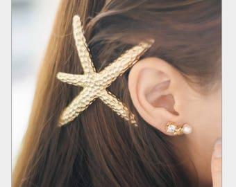 Starfish Barrette, Starfish Hair Clip, Starfish Hair Accessories, Mermaid Hair Accessories, Mermaid Hair Clip, Nautical Mermaid Costume