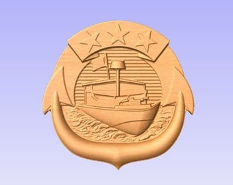 US Navy Small Craft Pin  (Your Choice of Size and Wood)