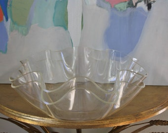 Pair of 70s Lucite Bowls