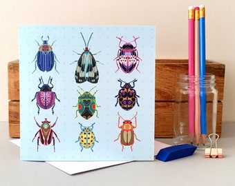 Bug Card - Insect Card - Blank Card - Birthday Card - Thank You Card - Thinking of You Card - Bug Greeting Card - Insect Greeting Card - Bug