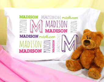 Pillowcase, Personalized Kids Pillow Case, Personalized Pillow Case Girls, Girls Pillowcases, Personalized Kids Name Pillow Girl