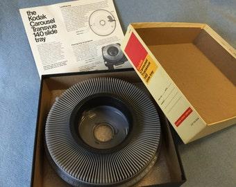 Kodak Carousel Transvue 140 Slide Tray - Vintage, Like New, in Original Box