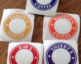 Vinyl sticker with name for Starbucks cup *cup not included