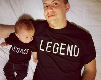 Legend/Legacy daddy&me// extra children shirt