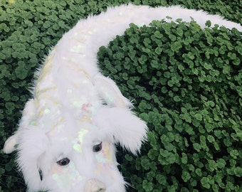Full sized Falkor (Falcor) the Luckdragon Puppet, from The Neverending Story