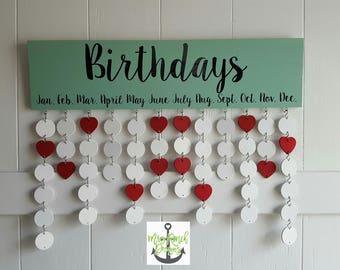 Family Celebration Board, Family Birthday Calendar, Family Celebration Sign, Perpetual Calendar, Wood Calendar