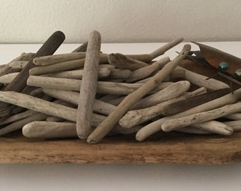 "Northern California 50 BULK Driftwood Pieces 6"" - 9"" long, drift wood"