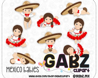 Mexico Babies, Mexican Folklore, Clipart, Aztec, Decorative, Baby Shower, Mexican, Fiesta, Gabz