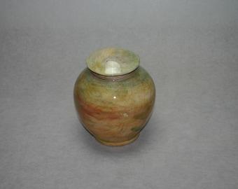 Ceramic urn colourful