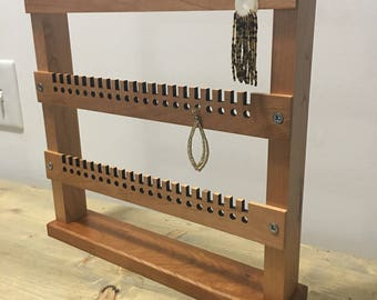 Wood earring rack