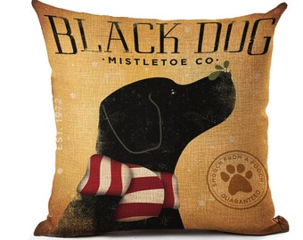 Black Lab Pillow, Lab Pillow, Pillow Case, Lab, Black Lab, Lab Picture, Dog