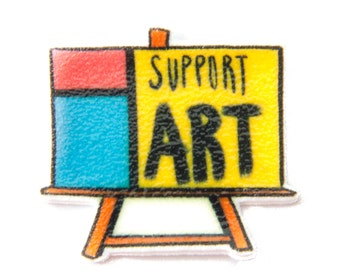 Support Art Canvas Brooch for Artists - Eclectic enamel pin gift for artists