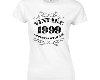 Women's 18th Birthday T Shirt Funny Vintage 1999 18th Birthday Gifts *GIFT BOXED free of charge!*