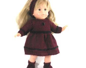 Burgundy set for doll