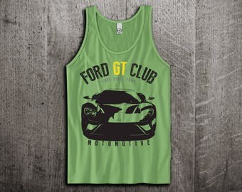 Ford GT Tank Top, Ford t shirts, GT shirts, cars tanks, Ford shirts, Muscle car t shirts, Ford racing Unisex Tank top by Motomotiveink