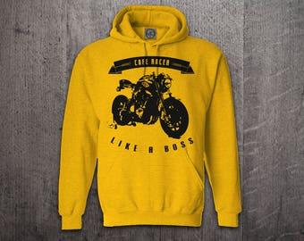 Cafe Racer hoodie, biker hoodies, motorcycle sweater, car hoodie, Bike life hoodies, funny hoodies, biker t shirts Unisex Hoodies Motomotive